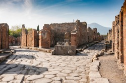 Archeaological site of Pompeii, near Naples, Italy