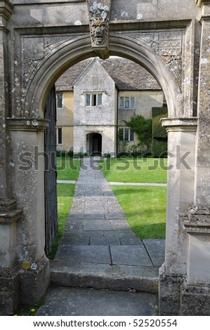 Arched Entrance of Manor House Grounds