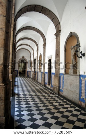 Arched passageway - stock photo