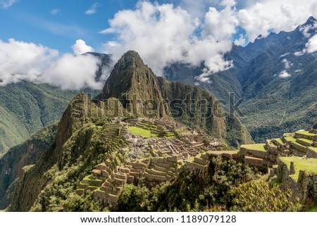 Archeological site of Machu Picchu ,Peru #1189079128