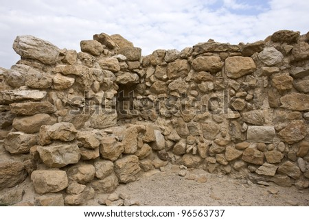 Archeological site, Qumran, Israel. - stock photo