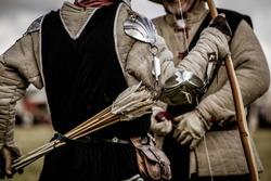 Archers prepare on the battlefield
