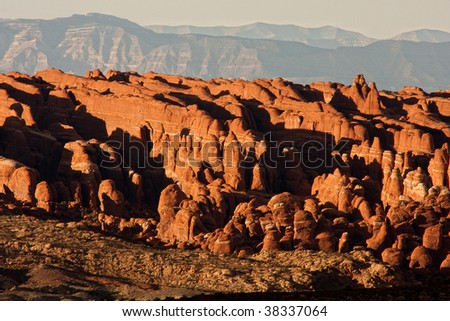 Arches National Park is a U.S. national park in eastern Utah. It is known for preserving over 2000 natural sandstone arches, including the Fiery Furnace Formation. The park is located near Moab, Utah.