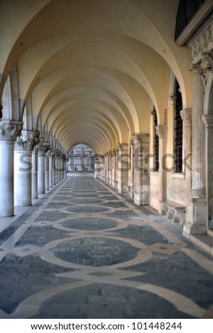 Arches near the Basilica of San Marco in Venice, Italy