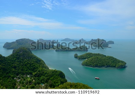 Archipelago of Ang Thong, National Marine Park, Koh Samui, Thailand.