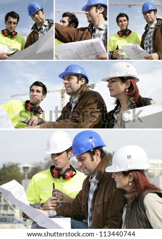 Architect and surveyor - stock photo