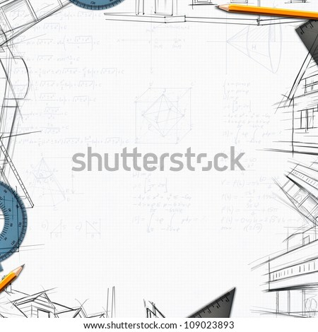 architect constructor designer background illustration