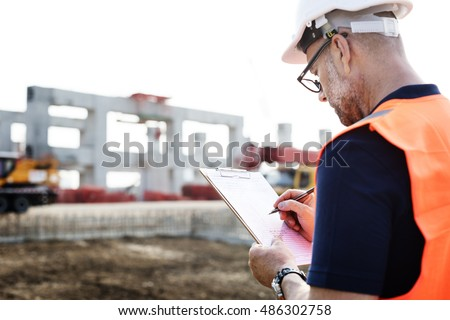 Architect Contractor Professional Building Career Concept