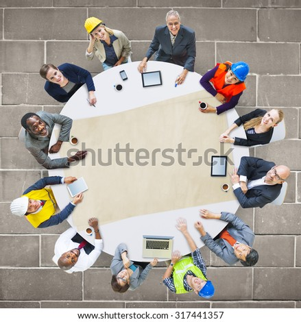 Architect Engineer Meeting People Brainstorming Concept #317441357