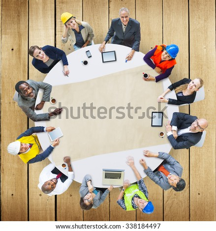 Architect Engineer Meeting People Brainstorming Concept #338184497