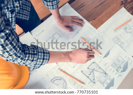 architect or engineer working...