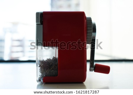 Architect Pencil Sharpener and Pencil Shavings