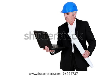 Architect with a laptop