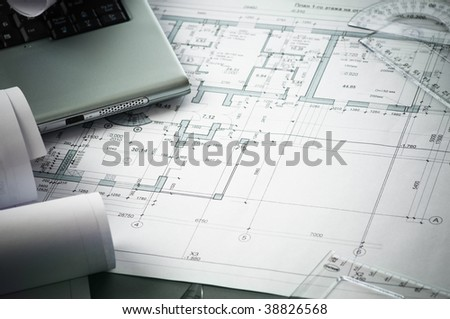 architects home plans on the table