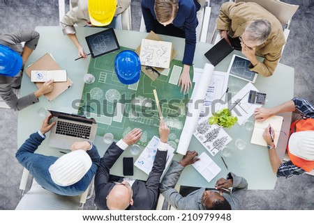 Architects Planning Around the Conference Table