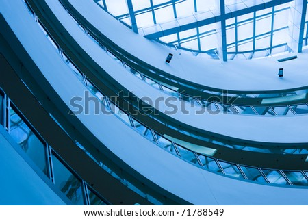 Architectural abstract - interior of a modern building.