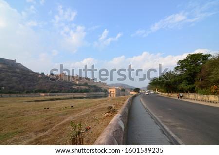 Architectural beauty of Amer Palace (Amber Palace), Jaipur, Rajasthan, India