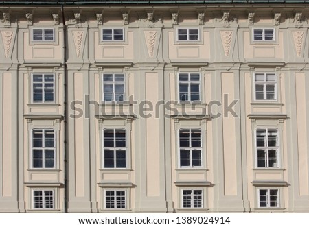 Architectural Classical Baroque Urban Facade Exterior Windows Buildings Palace House Europe Vienna Munich Berlin Germany Austria German Polish European Building Classic Old Fashioned Street Structure