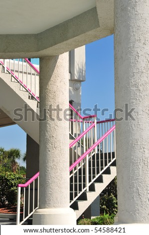 Architectural columns or pillars at a Southern Beach resort