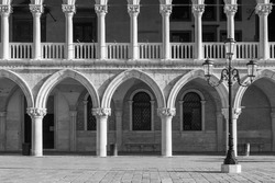 Architectural detail - Doge's palace in St Mark's Square in Venice (Palazzo Ducale)