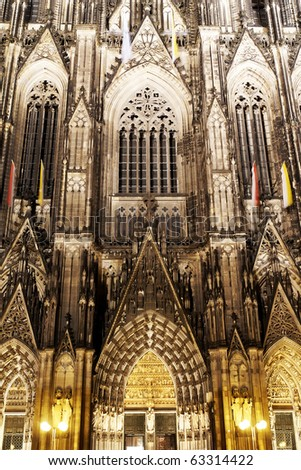 Architectural detail, Dom of Cologne, Germany