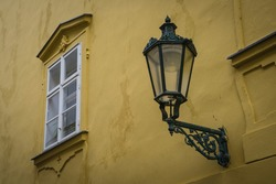 Architectural Detail in a old street of Prague.