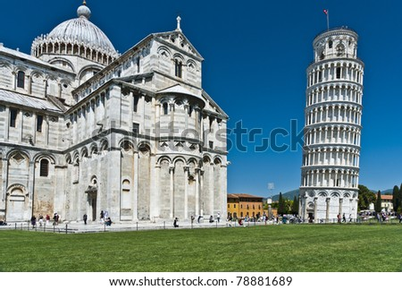 Architectural detail in Pisa, Italy