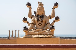 Architectural detail of Hindu temple in Dwarka, India