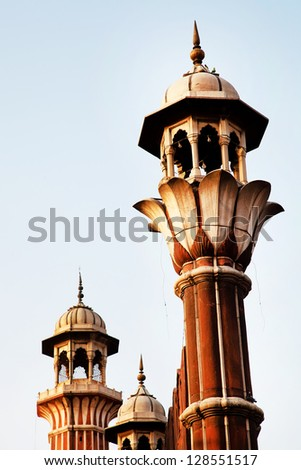 Architectural detail of Jama Masjid Mosque, Old Delhi, India