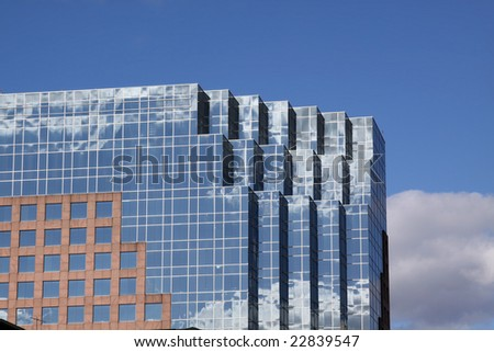 Architectural detail of Modern Building in Orlando, Florida, USA