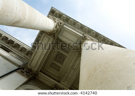 Architectural detail of the opera house in Munich