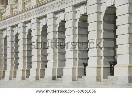 Architectural detail of US Capitol