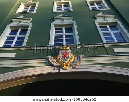 architectural details of a classical building, Miejski Rzecznik Konsumentów Poland Zdjęcia stock ©