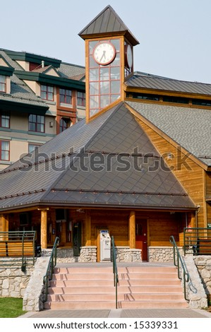 Architectural details of modern building - South Lake Tahoe, California