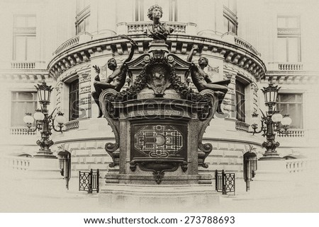 architectural details of opera...