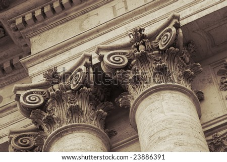 architectural details of San Giovanni in Laterano cathedral in Rome,Italy - stock photo