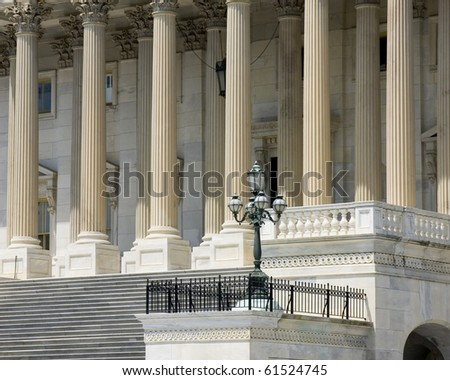 Architectural details of US Capitol building