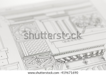architectural drawing   detail...