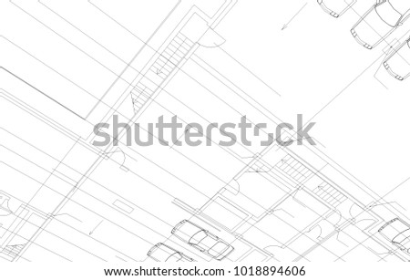 architectural drawing illustration