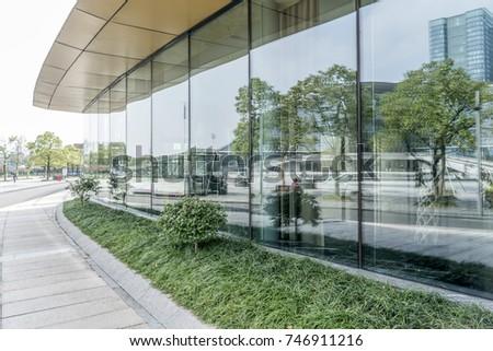 Architectural glass facade #746911216