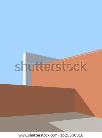 Architectural illustration architectur poster minimal print architecture minimalism building illustration