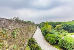 Architectural landscape of ancient city wall in Cangzhou City, Jiangxi Province