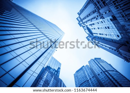 Architectural landscape of commercial building in central town #1163674444
