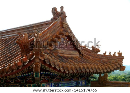 Architectural parts with Chinese elements #1415194766
