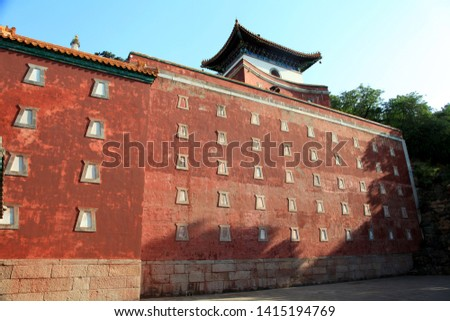 Architectural parts with Chinese elements #1415194769