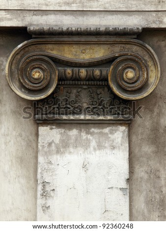 architectural pattern of old wall whit column