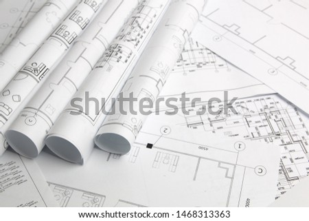 Architectural plan. Engineering house drawings and blueprints.