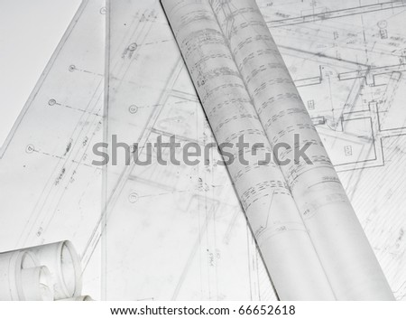 Architectural plans of a building