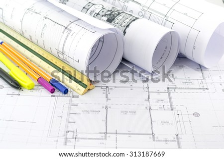 Architectural  project,Architectural plans.