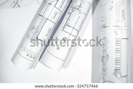 Architectural  project,Architectural plans,plan,blueprint non copyright
